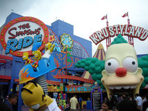 The Simpsons ride, krustyland. In universal studio Royalty Free Stock Image