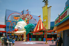 Simpsons ride at Universal Studios Royalty Free Stock Images
