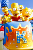The Simpsons Ride at Universal studios hollywood Royalty Free Stock Photo