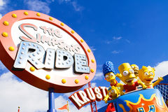 The Simpsons Ride at Universal studios hollywood Royalty Free Stock Image