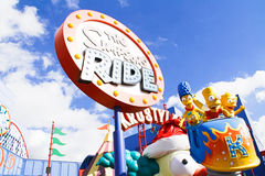 The Simpsons Ride at Universal studios hollywood Stock Photo