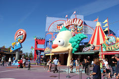 The Simpsons Ride at Universal Studios Hollywood Royalty Free Stock Images
