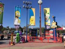 Simpsonsen på universella studior, Orlando, FL royaltyfri foto