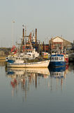 Simrishamn commercial fishing harbour Stock Photos