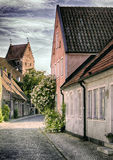 Simrishamn-Straßenbild Lizenzfreie Stockbilder