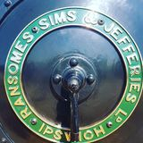 Sims de Ransomes y chapa de caldera de Jefferies fotografía de archivo libre de regalías