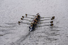 Simsbury races in the Head of Charles Regatta Women's Youth Eights Royalty Free Stock Image