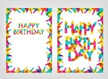 Simsen Sie alles Gute zum Geburtstag mit netten Formen und Farben dekorativ Vektor Abbildung