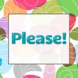Simsen Sie bitte bunten Hintergrund Lizenzfreies Stockbild
