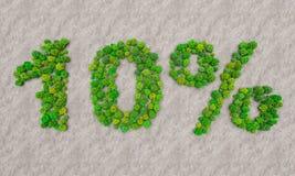 Simsen Sie 10 Prozent von den Bäumen in der Wüste vektor abbildung