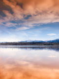 Simssee del lago y kampenwand de la montaña (5) foto de archivo libre de regalías