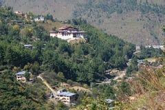 Simtokha Dzong - Thimphu - Bhutan Royalty-vrije Stock Foto