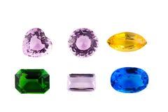 Simulação das pedras de gema isolada no fundo branco Imagens de Stock Royalty Free