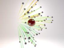 Simulação do conceito que voa balões coloridos Foto de Stock