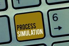 Simulación de proceso del texto de la escritura de la palabra El concepto del negocio para la representación técnica fabricó estu imagenes de archivo
