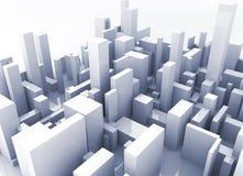 Simulación del edificio Foto de archivo libre de regalías