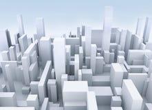 Simulación del edificio Fotografía de archivo libre de regalías