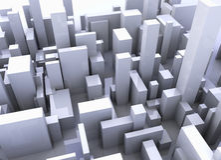 Simulación del edificio Fotos de archivo