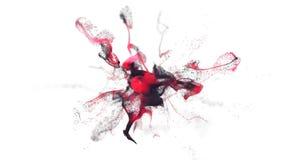 simulación del polvo de la pintura del cgi 4K stock de ilustración