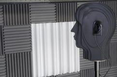 simulacre 3D dans une salle d'enquête Image stock