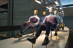 Simulacre d'essai d'accident au musée image libre de droits