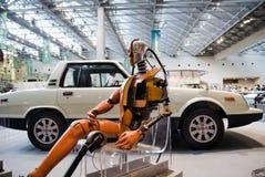 Simulacre d'essai d'accident dans le musée commémoratif de Toyota de l'industrie et de la technologie photographie stock libre de droits