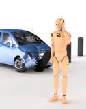 Simulacre d'essai de crash illustration de vecteur
