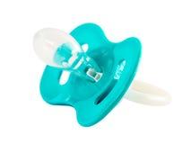 Simulacre de bébé bleu d'isolement sur le blanc Image stock