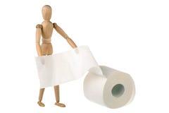 Simulacre et papier hygiénique photos libres de droits