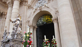 Simulacrum de S.Lucia et le baroque photo stock