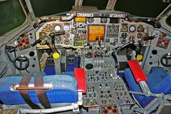 Simulador da cabina do piloto dois Seater Fotos de Stock