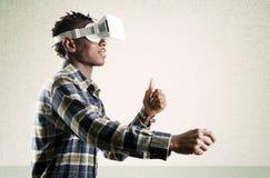Simulador da realidade virtual Imagem de Stock Royalty Free