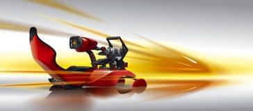 Simulador das corridas de carros da cadeira Imagem de Stock Royalty Free