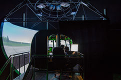Simulador do helicóptero Mi-8 Imagens de Stock Royalty Free
