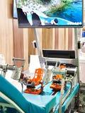 Simulador do pé para a reabilitação dos deficientes motores fotografia de stock