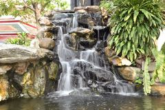 Simulate of Waterfall in garden Royalty Free Stock Photography