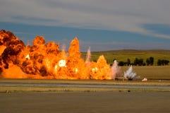 Simulated Air Strike Royalty Free Stock Photo