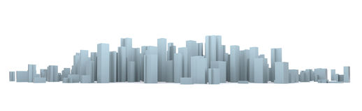 Simulated city Royalty Free Stock Image