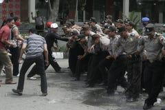 SIMULATED PERFORMANCE HANDLING OF VIOLENCE IN THE TASTE SUKOHARJO Stock Photos