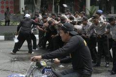SIMULATED PERFORMANCE HANDLING OF VIOLENCE IN THE TASTE SUKOHARJO Royalty Free Stock Image