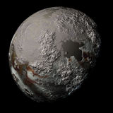 Simulated planet on black Royalty Free Stock Photography