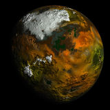 Simulated planet on black Stock Image