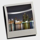 Simulated polaroid photo stock photo