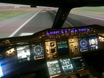 Simulateur B747 photo stock
