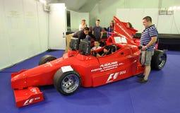 Simulateur de Formule 1 de Ferrari Photos libres de droits