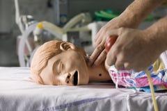 Simulateur de patient hospitalisé Photos libres de droits