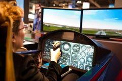 Simulateur de vol acrobatique aérien photo libre de droits