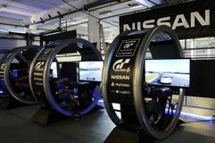 Simulateur moteur moderne - académie du GT, PlayStation Photographie stock libre de droits