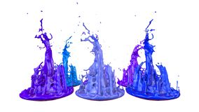 Simulation of 3d splashes of ink on a musical speaker that play music. beautiful splashes in ultra high quality. Paints stock images
