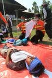 Simulation de tremblement de terre Photo libre de droits